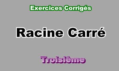 Exercices Corrigés Sur Racine Carré 3eme en PDF