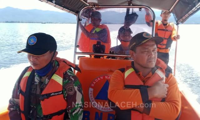 Gabungan Tim  SAR Abdya Sisir Laut Susoh Cari  Korban Tenggelam di Perairan Laut Susoh
