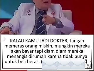 Dokter jangan memeras Orang Miskin