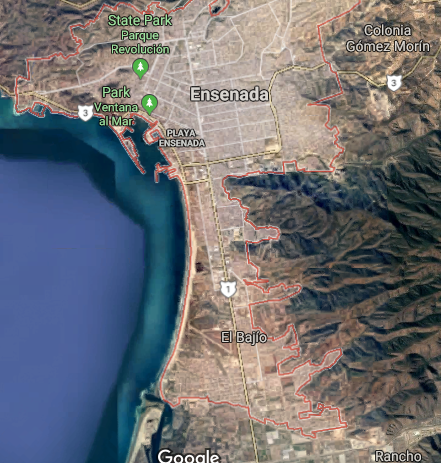 Google Maps Baja California UFO witness sighting.