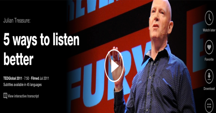 5 Great TED Talks on The Importance of Listening ~ Educational Technology and Mobile Learning