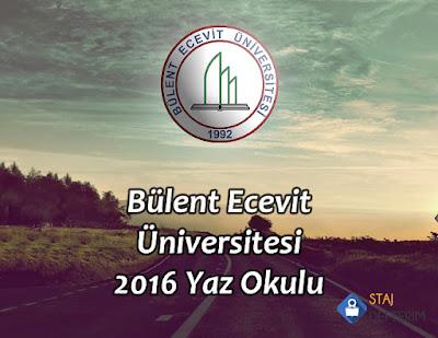 Bülen Ecevit Üniversitesi 2016 Yaz Okulu