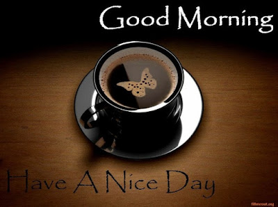 black coffee cup with good morning for whatsapp