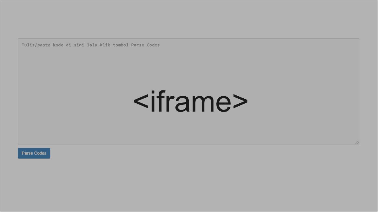 Cara membuat iframe responsive di blogger