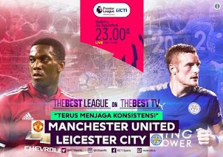 Jadwal Siaran Langsung Manchester United vs Lecester City