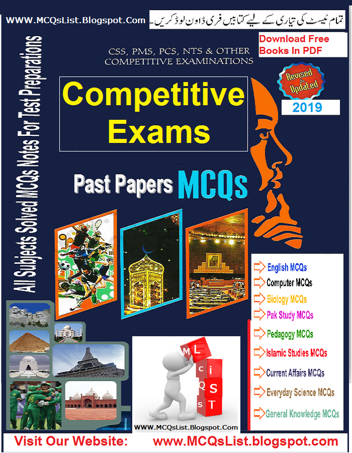 Competitive Exams MCQs With Answers Book Free Download