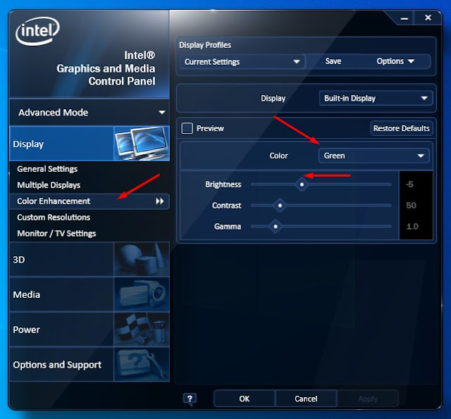 intel hd monitor calibration windows 10
