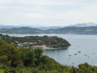 View of Bay of Olive Trees (Seno dell'Olivo) with view of diga foranea