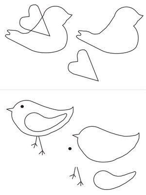 Plantillas para imprimir de pájaros