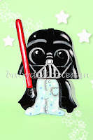 silueta de madera infantil Darth Vader en pijama Star Wars babydelicatessen
