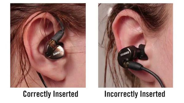 21 Daily Things You've Been Doing Incorrectly All Your Life & How To Do Them Right - Earphones should be worn by coiling them over the ear.