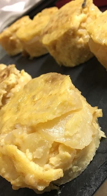 Tortilla de patata. Bar Monasterio de Pamplona