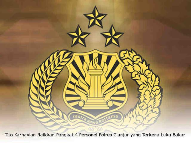 Tito Karnavian Naikkan Pangkat 4 Personel Polres Cianjur yang Terkena Luka Bakar