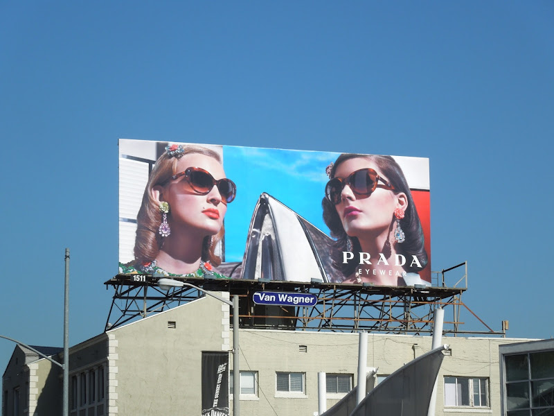 Prada retro eyewear billboard