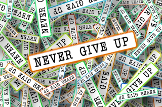 never give up - Keep paddling