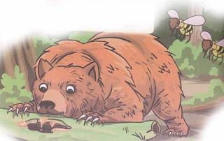 Contoh Teks Cerita Fabel Beruang dan Lebah