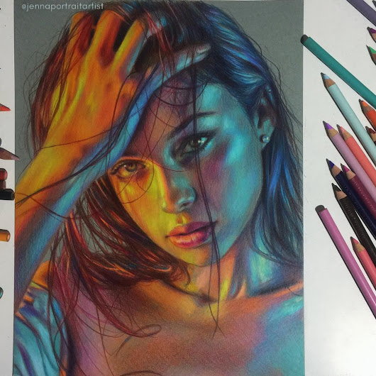 Colorful and Luminous Portrait Drawings