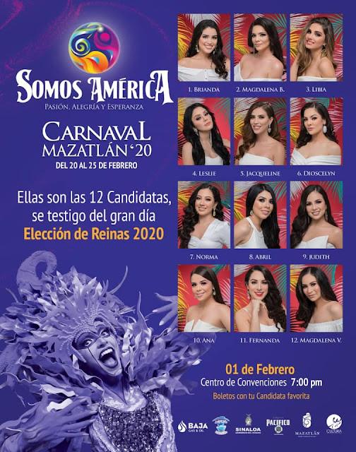 candidatas a reina de carnaval mazatlán 2020