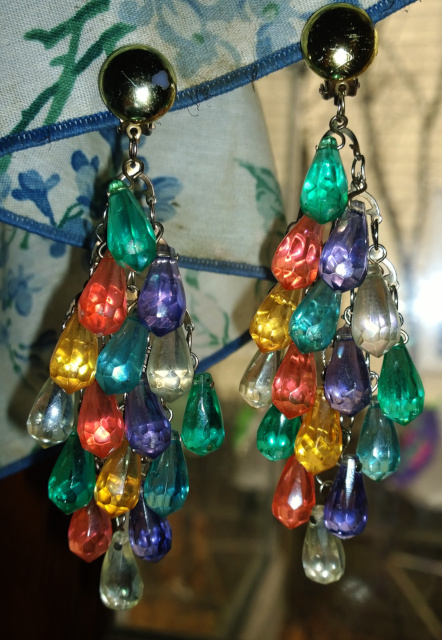 Two earring hanging beside one another