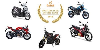 Daftar Finalis Motor Terbaik 2016 versi Wartawan Otomotif