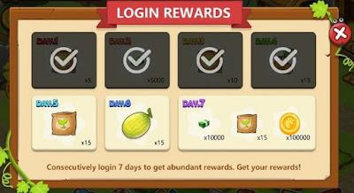 Mengambil Bonus Harian (Login Reward)