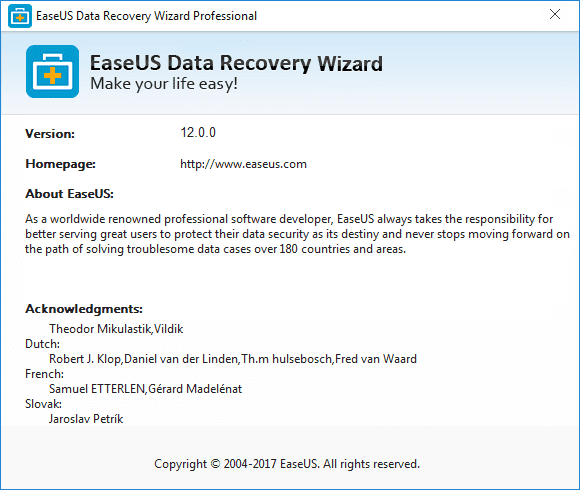 EaseUS Data Recovery Wizard 12 License Code Crack Serial Key KEygen