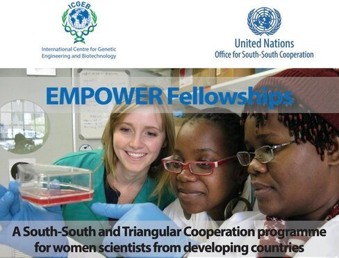 UNOSSC Youth4South & ICGEB Empower Fellowship 2021 for Women Scientists in developing countries