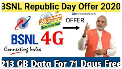 BSNL Offers By Giving Extra Validity Of 71 Days To Rs. 1,999 Plan In Repiblic Day