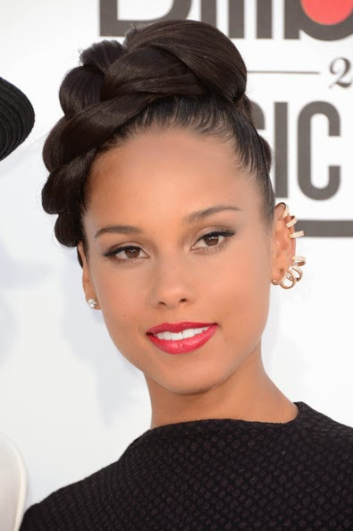 Alicia Keys glossy braid