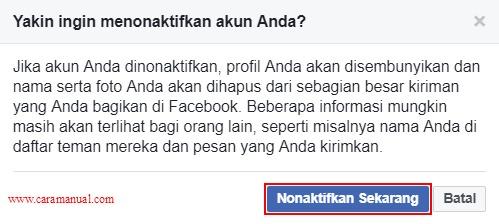 Nonaktifkan Akun Facebook Sekarang