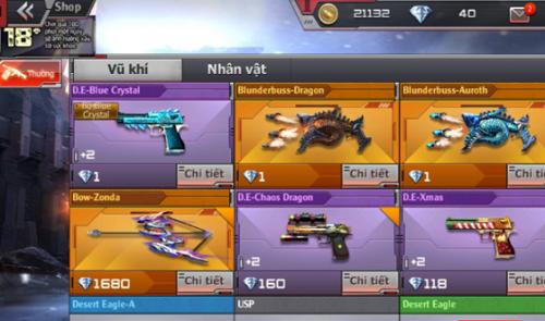 Game thủ có thể chọn giữa nhiều phiên bản chơi không giống nhau trong vòng Crossfire Legends