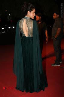 Actress Pragya Jaiswal Stills in Green Long Dress at Gemini TV Puraskaralu 2016 Event  0096.JPG