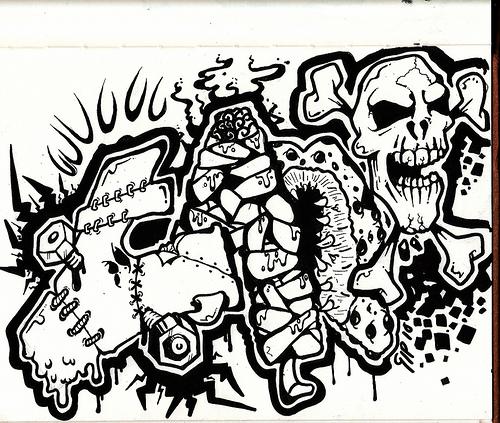 GRAFFITI FONTS Graffiti Sketches