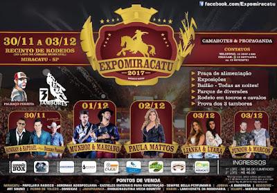 Expomiracatu confira a programação de 30/11a 03/12