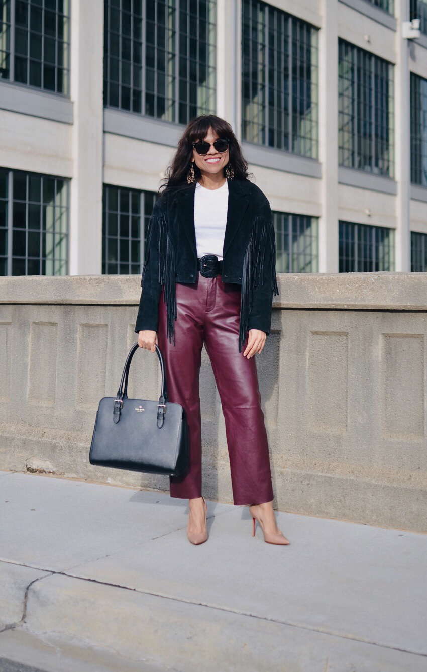 How To Wear Leather Pants