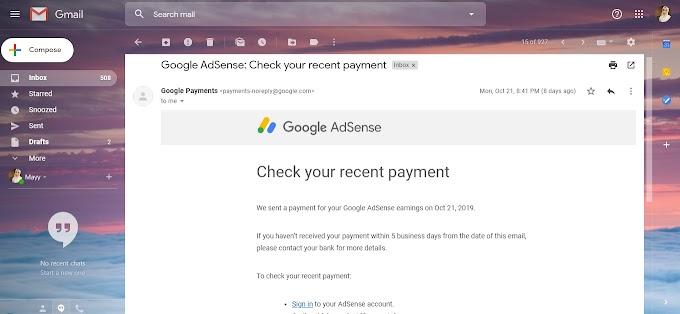Cashout Adsense Kali Pertama