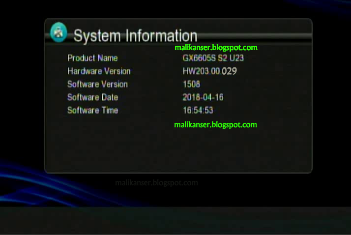 GX6605S HW203 00 029 TYPE HD RECEIVER TEN SPORTS OK NEW SOFTWARE