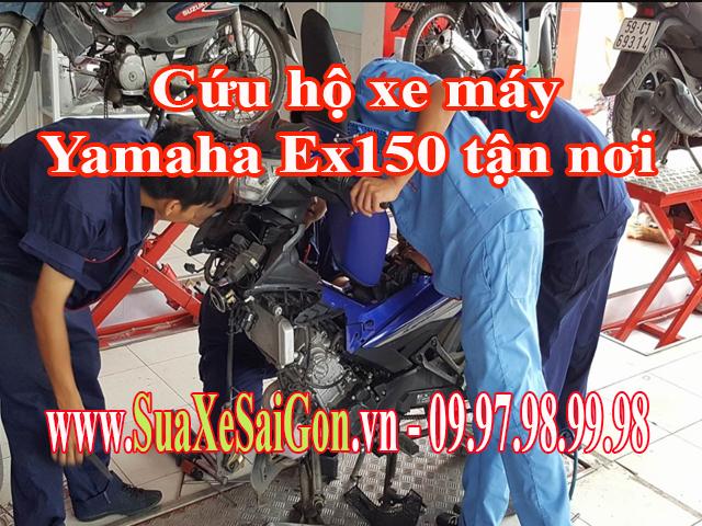 Cứu hộ xe máy Yamaha Exciter 150 tận nơi tại TpHCM. Gọi 0902623186 để sửa chữa