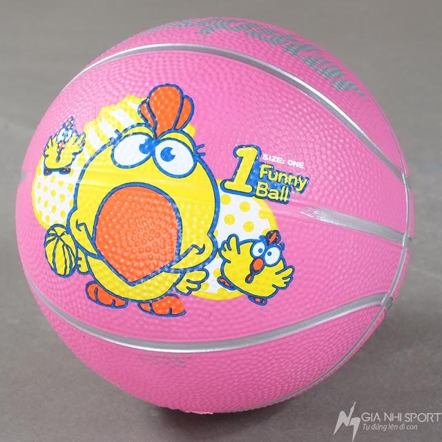 Quả bóng rổ cho trẻ em Group Star màu hồng