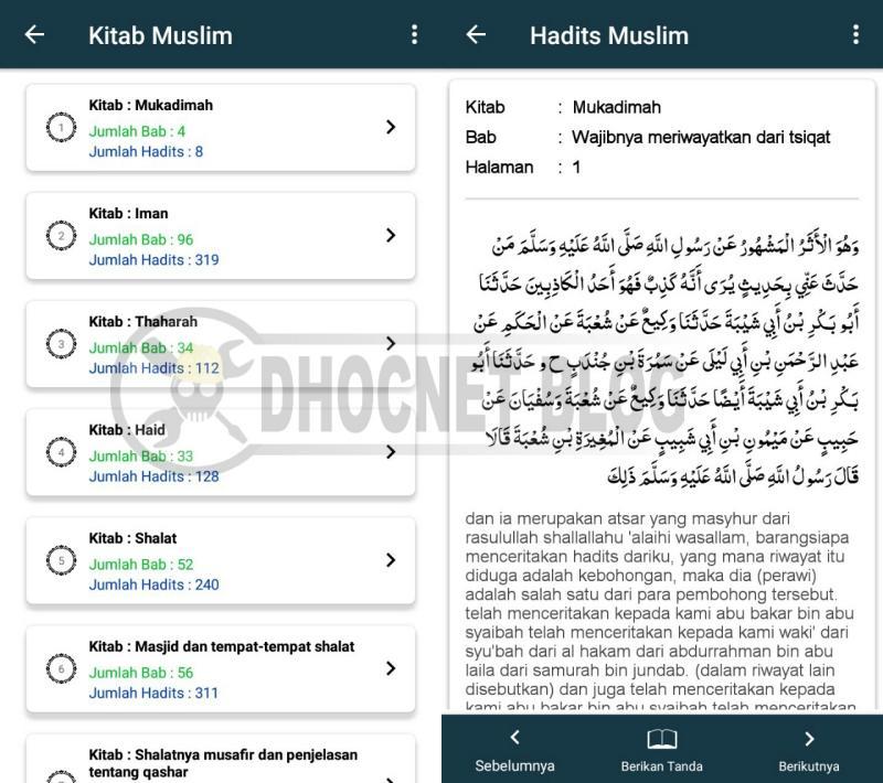 Kitab Hadits Sahih Imam Muslim Untuk Android