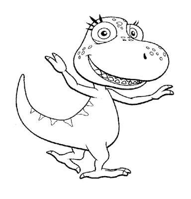 Gambar Mewarnai Dinosaurus - 4