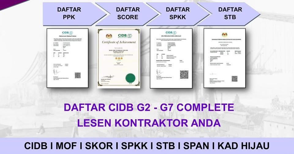 Permohonan Lesen Kewangan Mof Daftar Cidb G1 G7 Sekarang