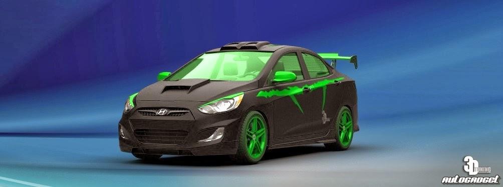 Motorcycle And Cars Hyundai Verna Fluidic Monster