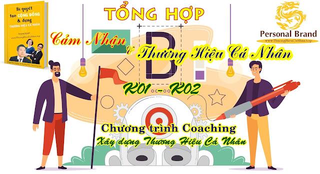 Tổng hợp cảm nhận và THCN của học viên K01, K02 chương trình coaching xây dựng Thương Hiệu Cá Nhân