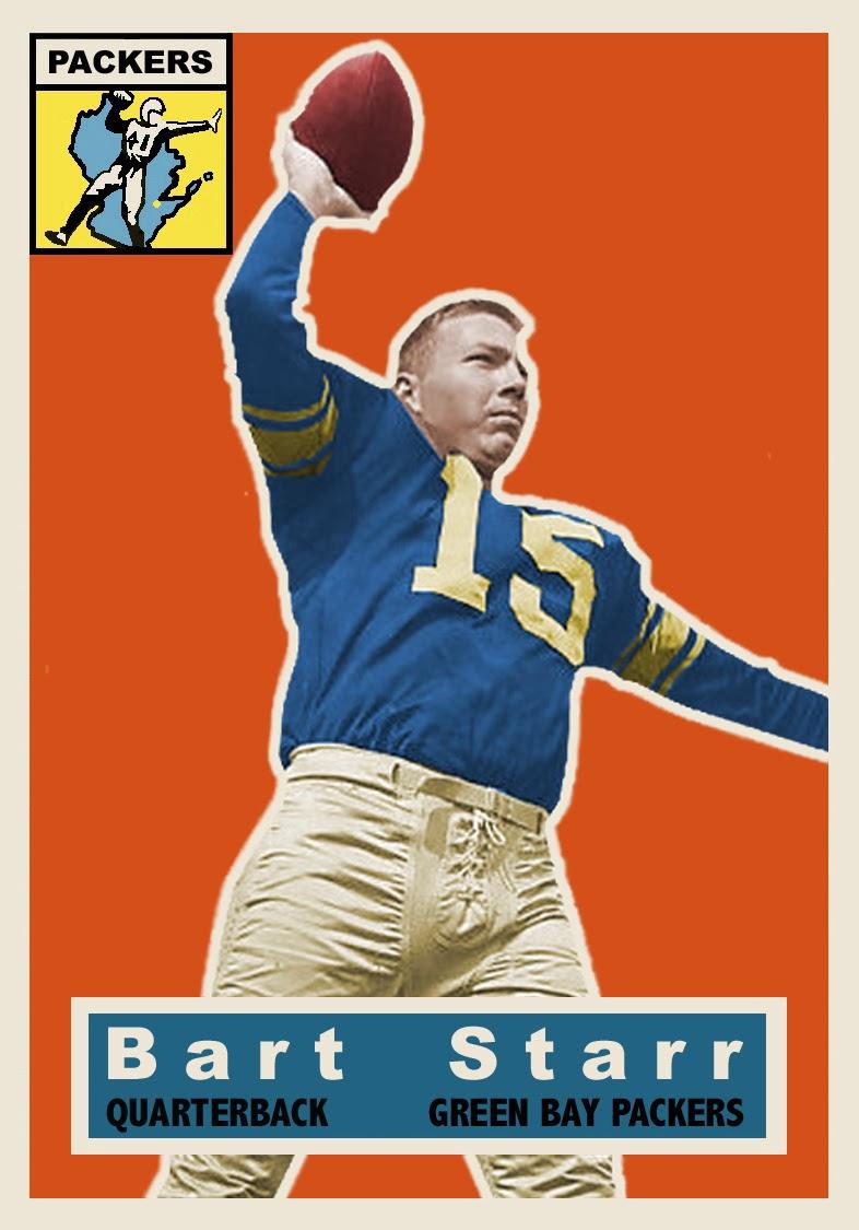 Bob Lemkes Blog 1956 Topps Style Bart Starr Custom Card