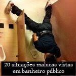 20 situações malucas vistas em banheiro público