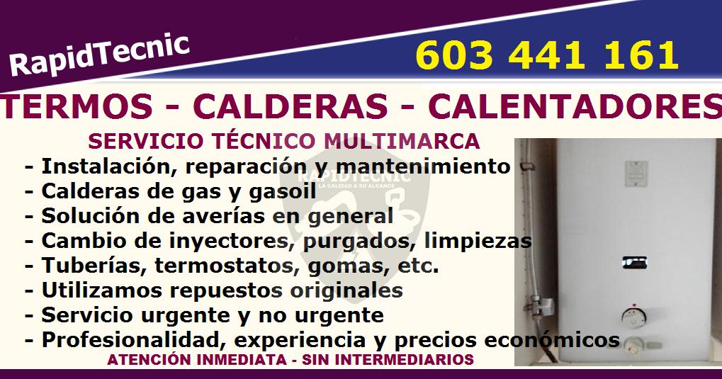 Reparaciones reparaci n calderas termos y calentadores for Reparacion de calderas barcelona