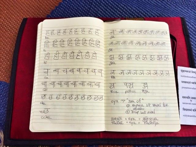 Studying Sanskrit in Rishikesh