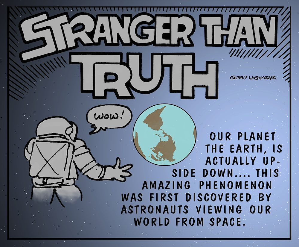 Stranger Than Truth, science cartoon