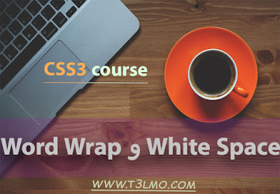 شرح Word Wrap و White Space في Css3